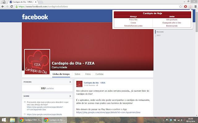 Cardápio FZEA