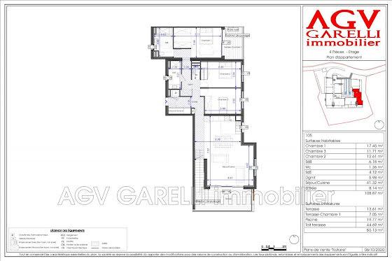 Vente appartement 4 pièces 108,87 m2