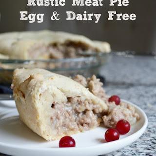 Dairy & Egg-Free Rustic Meat Pie.