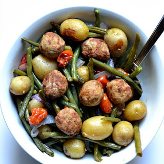 Meatballs with Roasted Vegetables Recipe