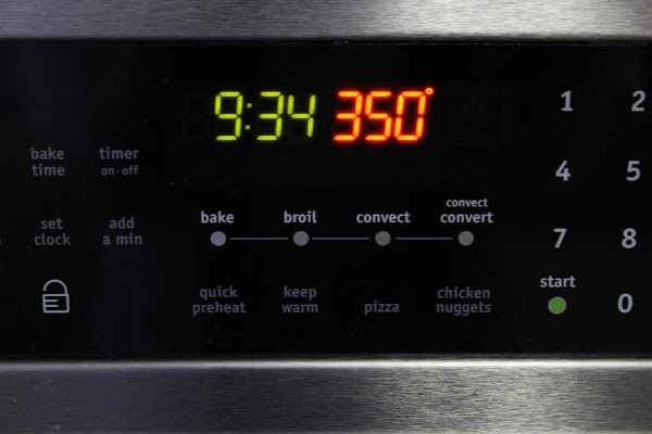 Oven preheated to 350 degrees F