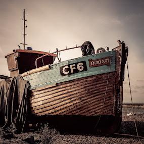 Our Lady by Dan Horton-Szar ARPS - Transportation Boats ( ncps scan, sea, kodak portra 160 vc, landscape, mamiya 7ii, hastings,  )