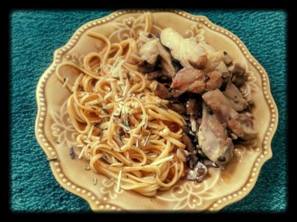 Chicken Marsala W Pasta In A Rosemary Tomato Sauce Recipe
