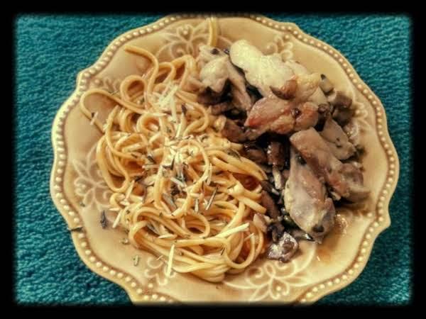 Chicken Marsala W Pasta In A Rosemary Tomato Sauce