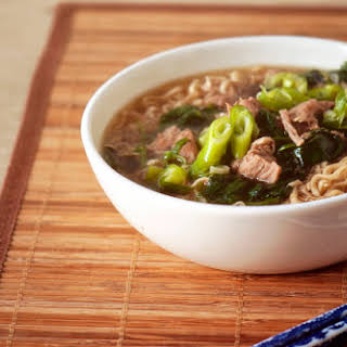 Slow Cooker Japanese Pork and Ramen Soup.