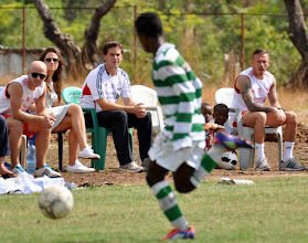 Photo: Coach McKinstry, Craig Bellamy and others watch elite young players in action at the Craig Bellamy Academy (Photo: Samantha Bohall).