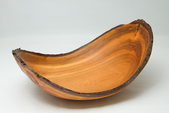 "Photo: Bob Grudberg - 12"" x 4"" natural edge bowl [cherry]"