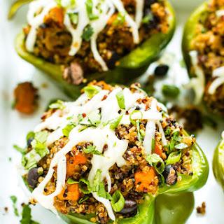 Black Bean & Quinoa Stuffed Bell Peppers.
