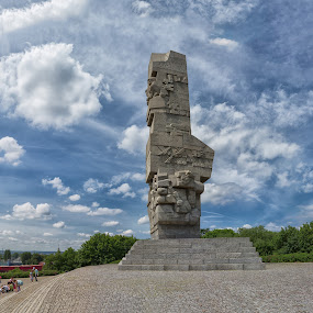 Westerplatte monument by David Guest - Buildings & Architecture Statues & Monuments ( gdansk, westerplatte, monument, war, poland )