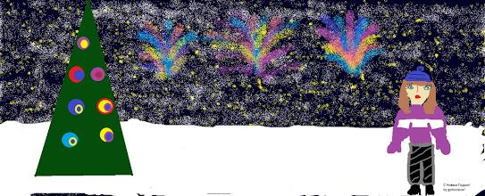 Photo: Головлева Екатерина, 5 класс, Кожинская СОШ. «Новогодний салют»  На своем рисунке я изобразила новый год, в самый разгар. Я люблю праздник новый год из-за очень красивых фейерверков, салютов, бенгальских огней и большой красивой ёлки.