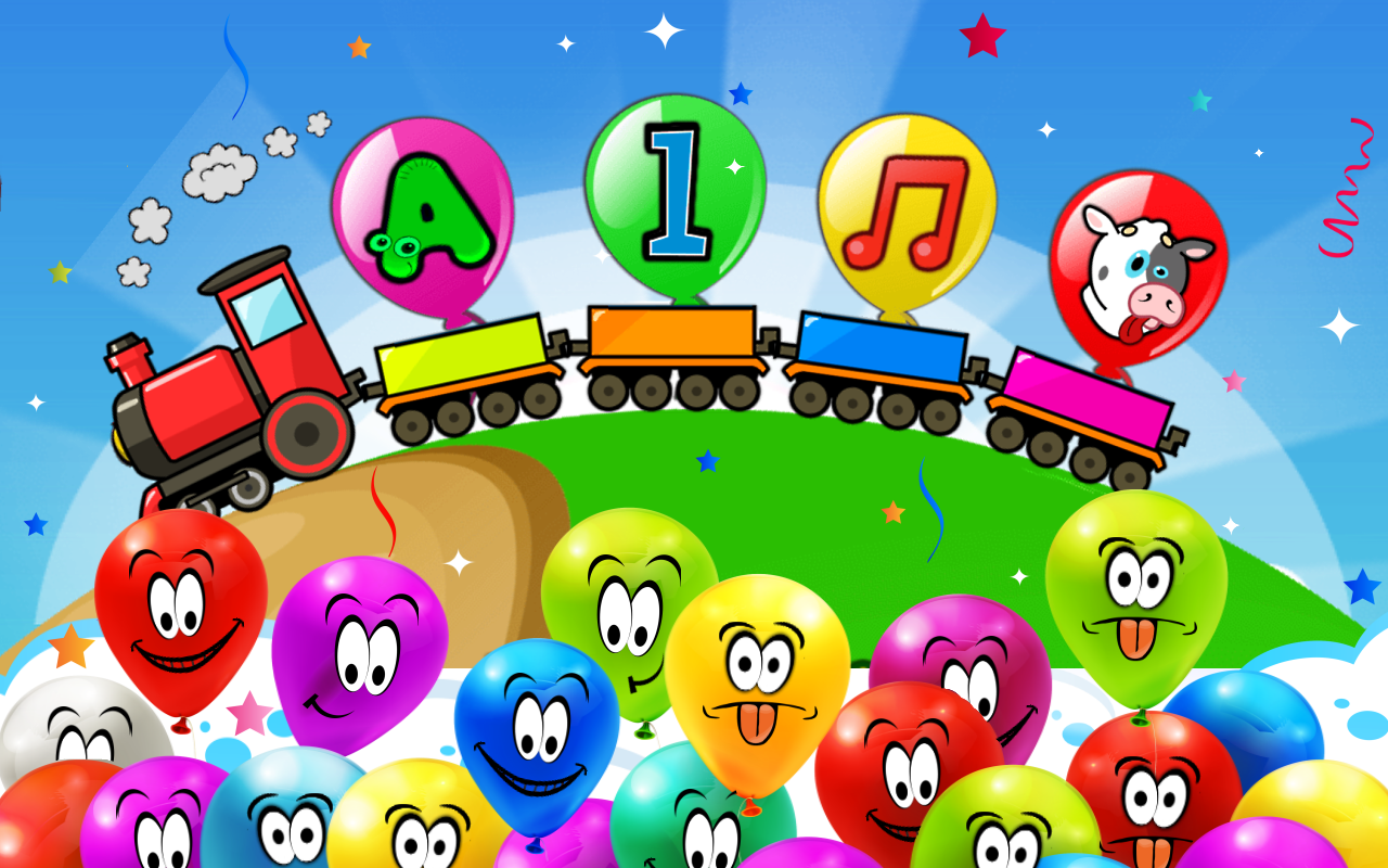 Co color by number games kids - Balloon Pop Kids Learning Game Screenshot