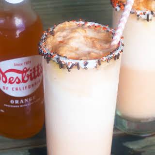 Orange Creamsicle Float Cocktail.