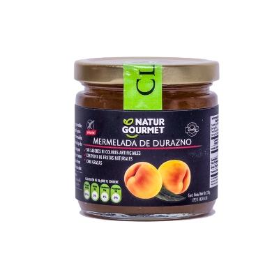 mermelada sin gluten natgurmet sabor a durazno 230g