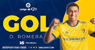 Dani Romera anota su primer gol en la Liga.