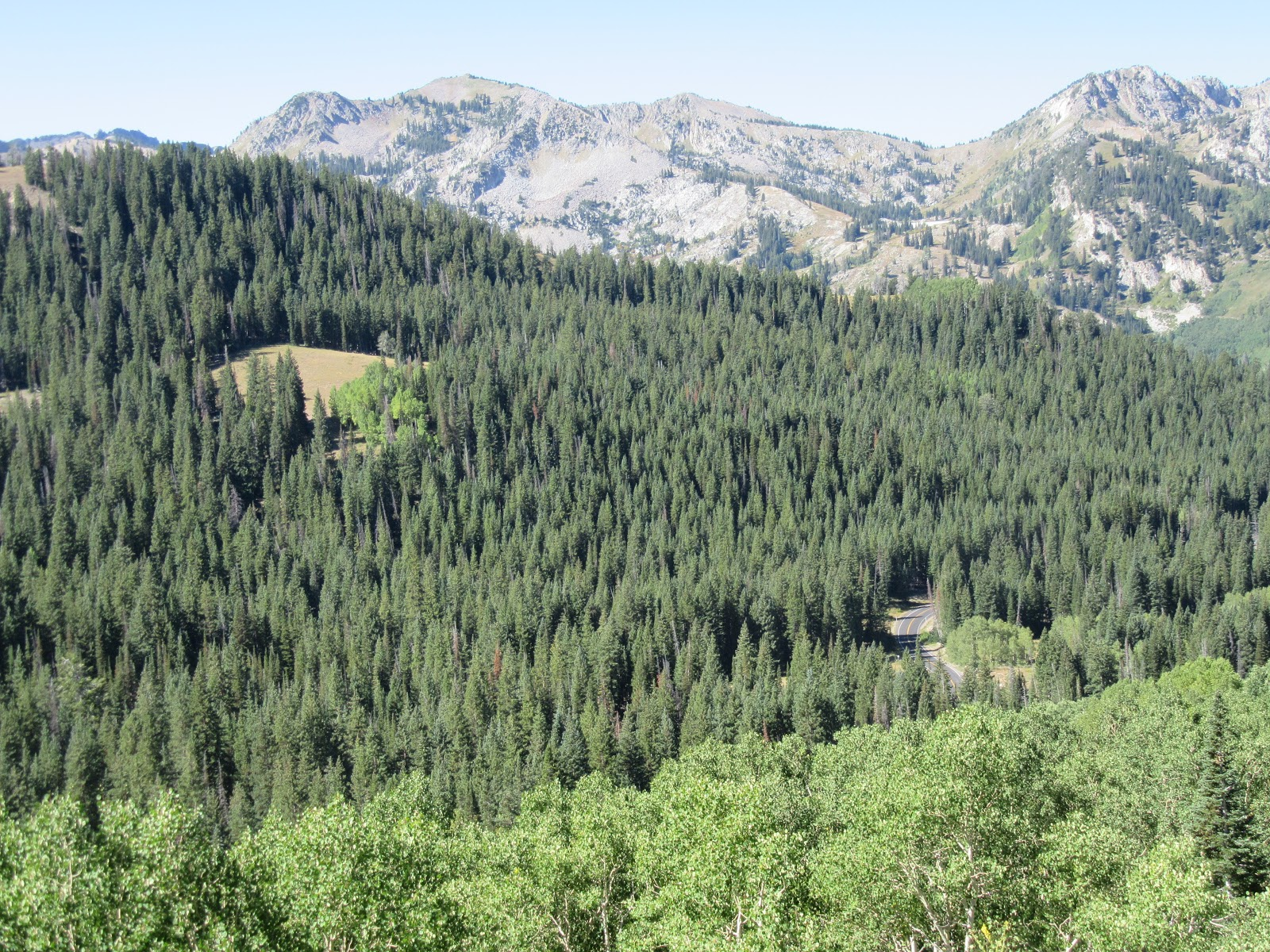 Bicycle ride up Big Cottonwood Canyon - Wastch Mountains