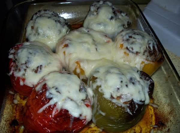 Stuffed Green , Red Or Yellow Peppers Recipe