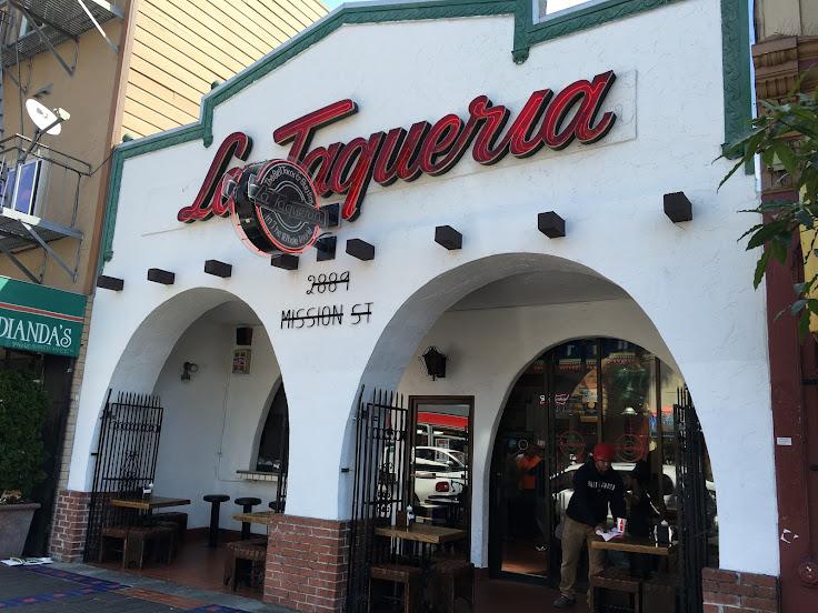 La Taqueria store front.