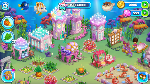 Aquarium Farm: fish town, Mermaid love story shark  screenshots 16