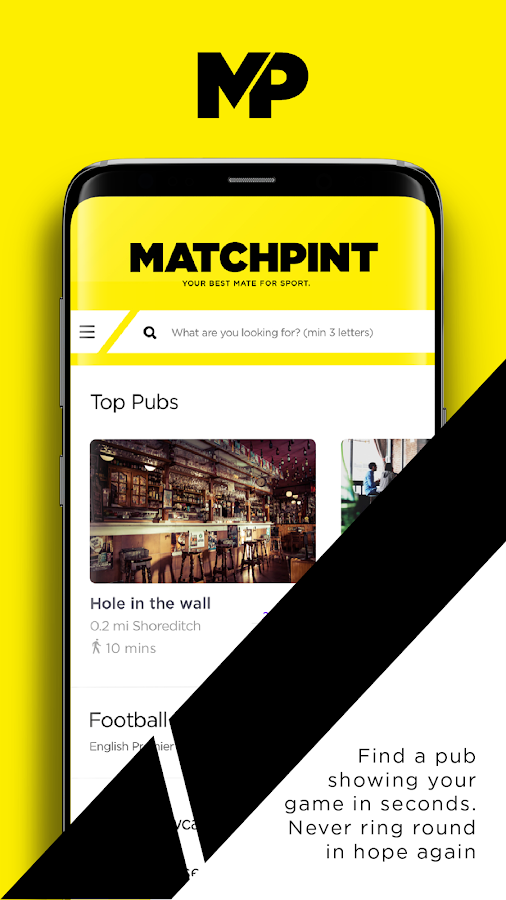 MatchPint | Your Best Mate For Sport- screenshot