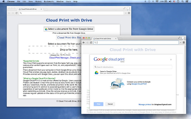Print A Document From Your Computer Or Google Drive Using Cloud Service To Any Connected Printer
