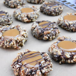 Insanely Delicious Turtle Cookies.