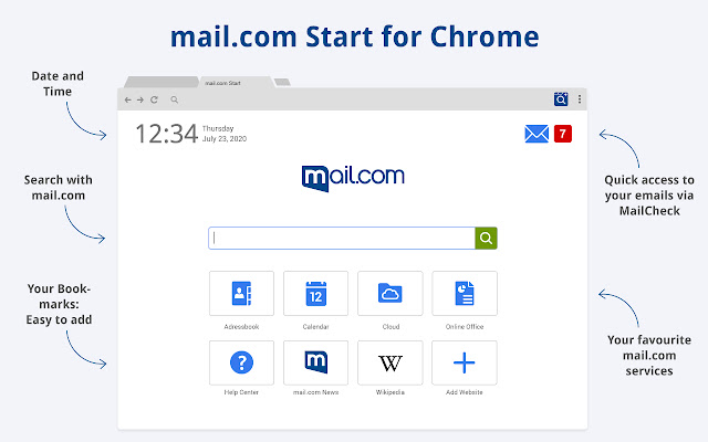 mail.com Start for Chrome