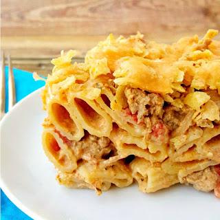 Queso Con Carne Casserole or Nacho Pasta