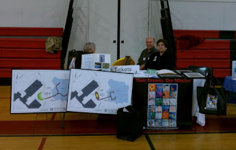 Photo: Kathie, Tom and Susan at the RBBEF table