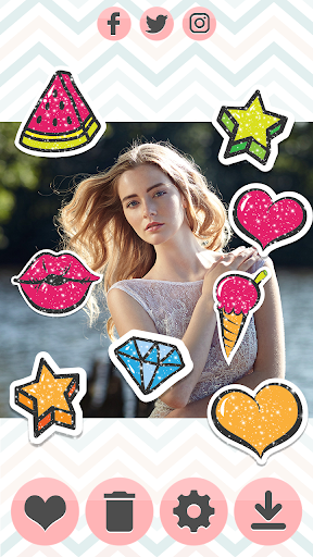 Glitter Stickers 1.1 screenshots 6