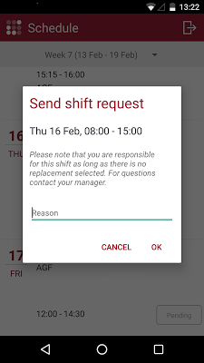 R&R job app - screenshot