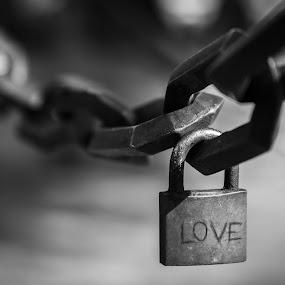 Love chain by Nistorescu Alexandru - City,  Street & Park  City Parks ( #bw, #loveintepark, #city, #love, #chain )