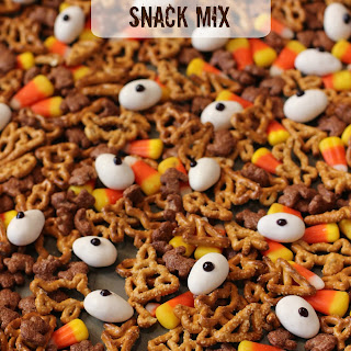 Tricks and Treats Halloween Snack Mix.