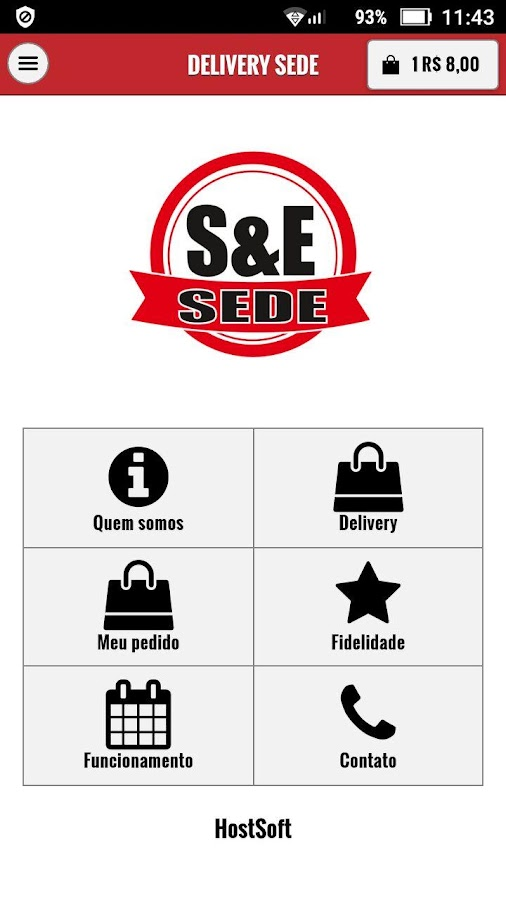 Delivery SEDE- screenshot