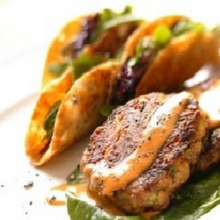 Baked Ancho Chile Verlasso Salmon Cakes with Lemon and Roasted Garlic Aioli