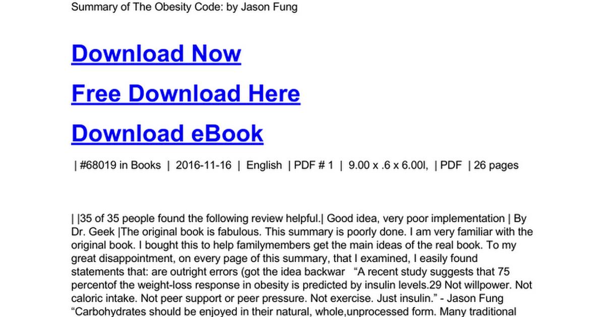 Obesity code pdf download book cwiek download the obesity code unlocking the secrets of weight loss ebook pdf fandeluxe Gallery