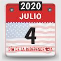 calendario usa 2020, calendario con festivos 2020 icon