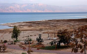 Photo: Dead Sea receding terraces