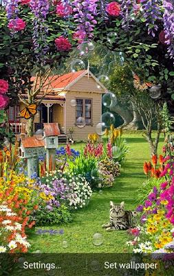 Garden Live Wallpaper - screenshot