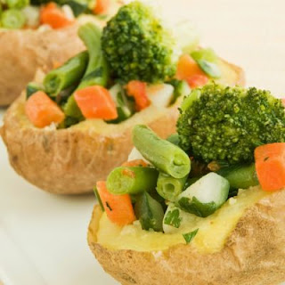 Veggie-Loaded Baked Potatoes