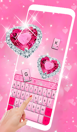 Pink Diamond Princess Keyboard Theme 6.2.22.2019 app download 2