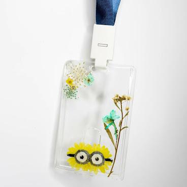 [訂製/Custom-made] Minions Pressed Flower Card Holder