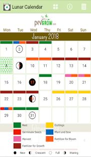 2018 Lunar Calendar Marijuana - náhled