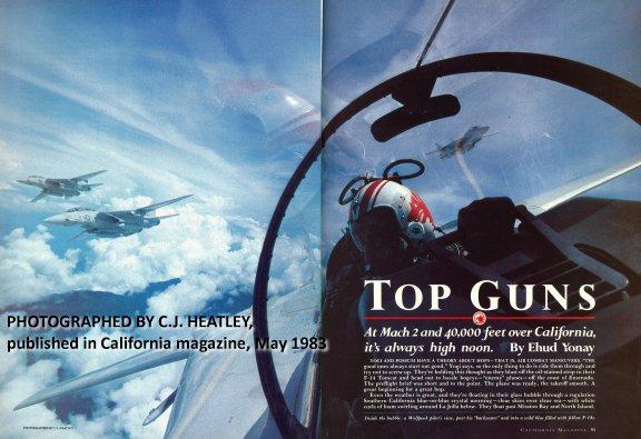 ภาพบทความเรื่อง Top Guns โดย Ehud Yonay ใน California Magazine ฉบับเดือนพฤษภาคม ปี 1983