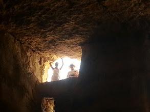 Photo: El la fundo de la Heroda cisterno sub Masado