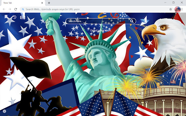 American Flag HD Wallpapers New Tab Theme