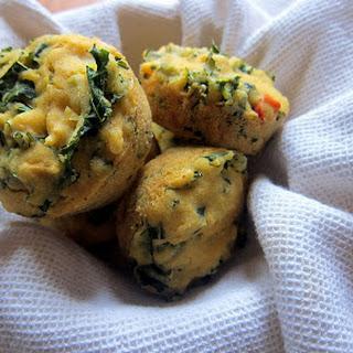 Cheesy Green Cornbread Muffins