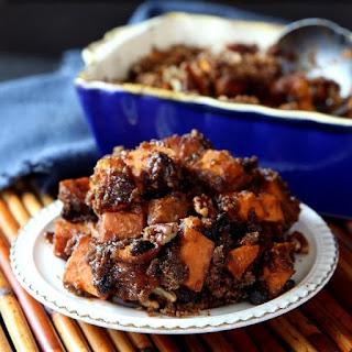 Chunky - Raisin Sweet Potato Casserole.