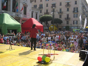 Photo: Allestimento in piazza a Savona