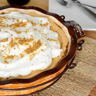 Pumpkin Cream Pie with Gingerbread Crust