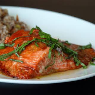 Pomegranate-Glazed Salmon.